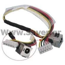 HP Pavilion  DV2500 DV2000 DC Jack W/Cable 50.4F502.001  Βύσμα Τροφοδοσίας